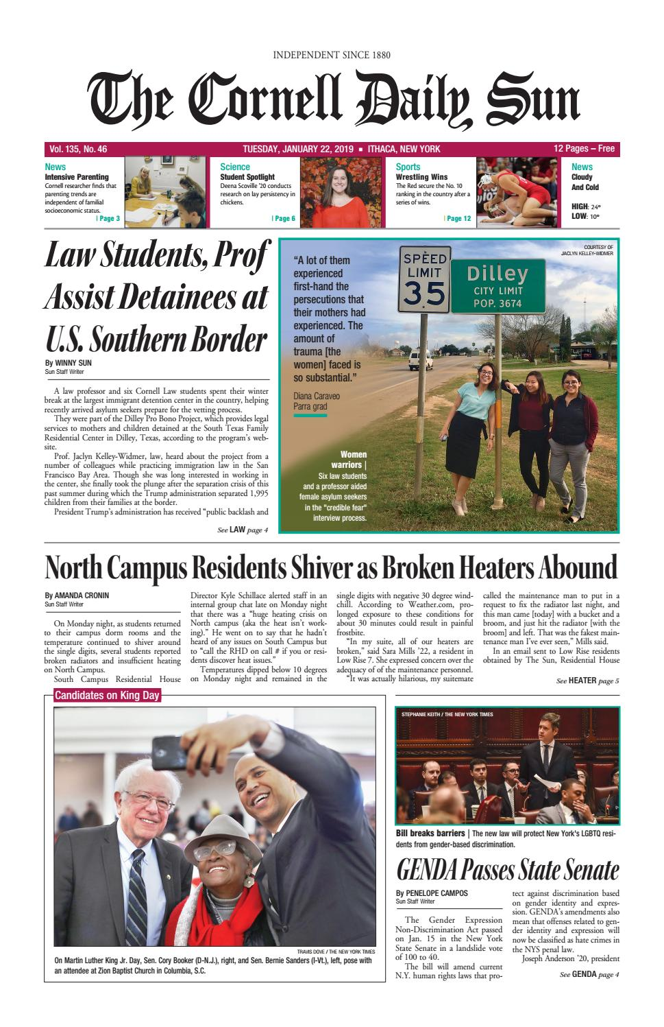 89819b147c789 01-22-19 entire issue hi res by The Cornell Daily Sun - issuu