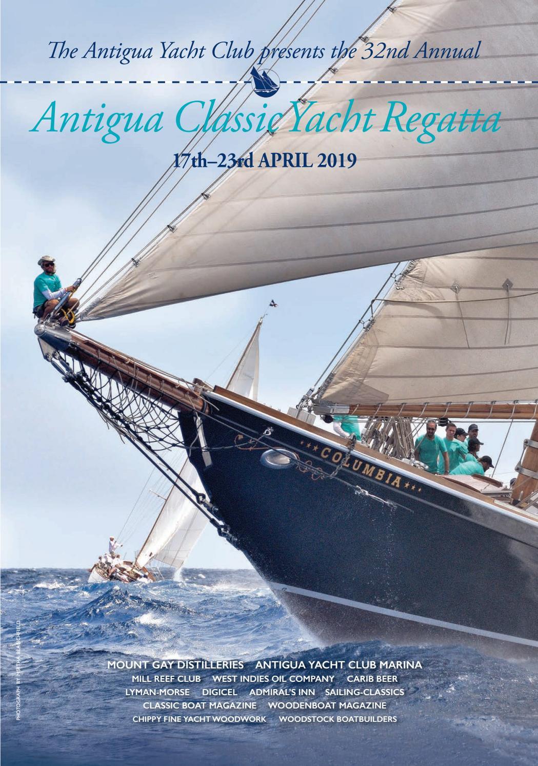 Antigua Classic Yacht Club Regatta 2019 Programme by Antigua