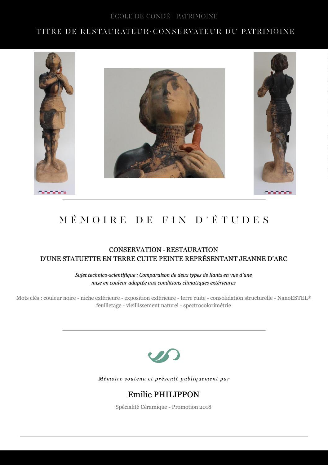 Emilie Philippon Mémoire De Fin Détude Céramique Promo