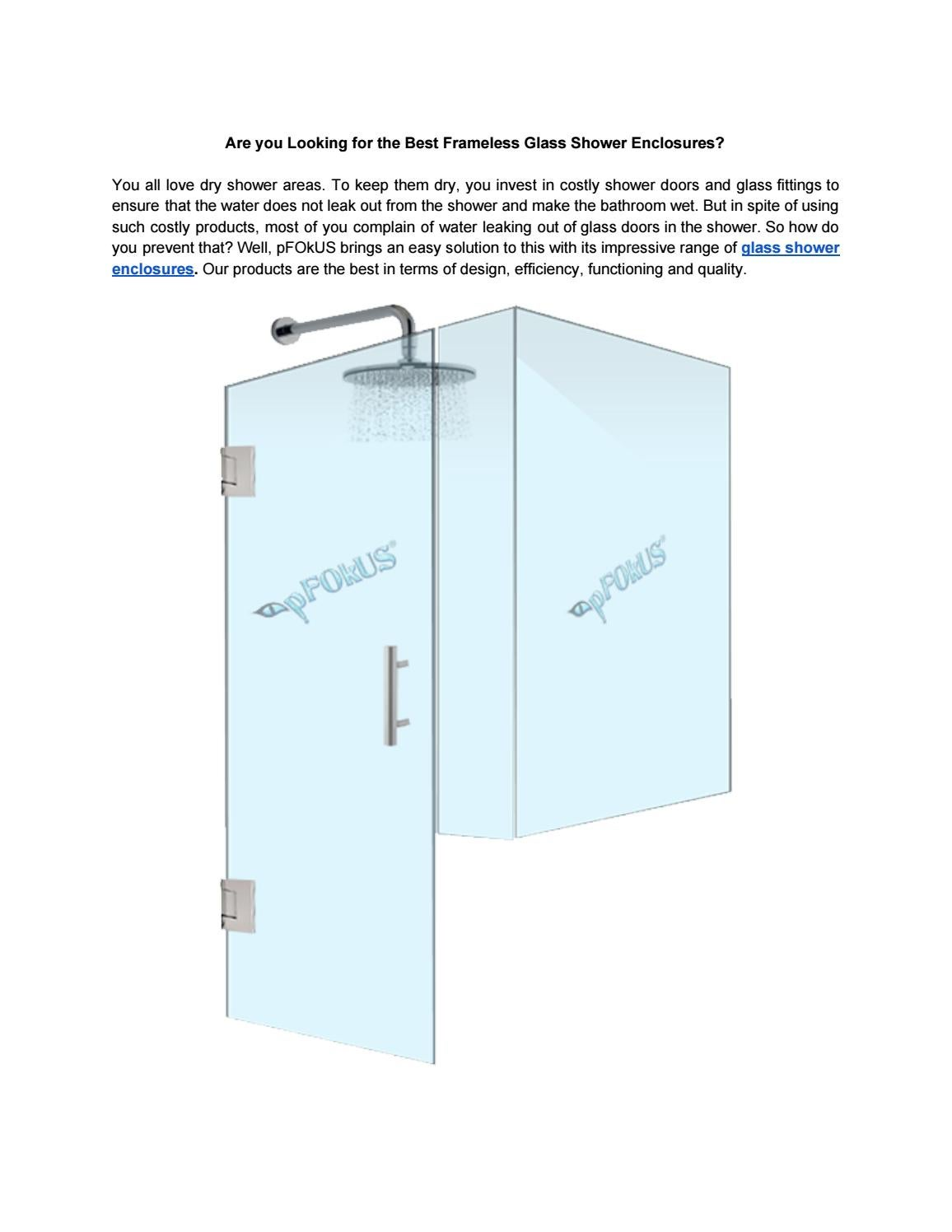Are You Looking For The Best Shower Glass Enclosures By