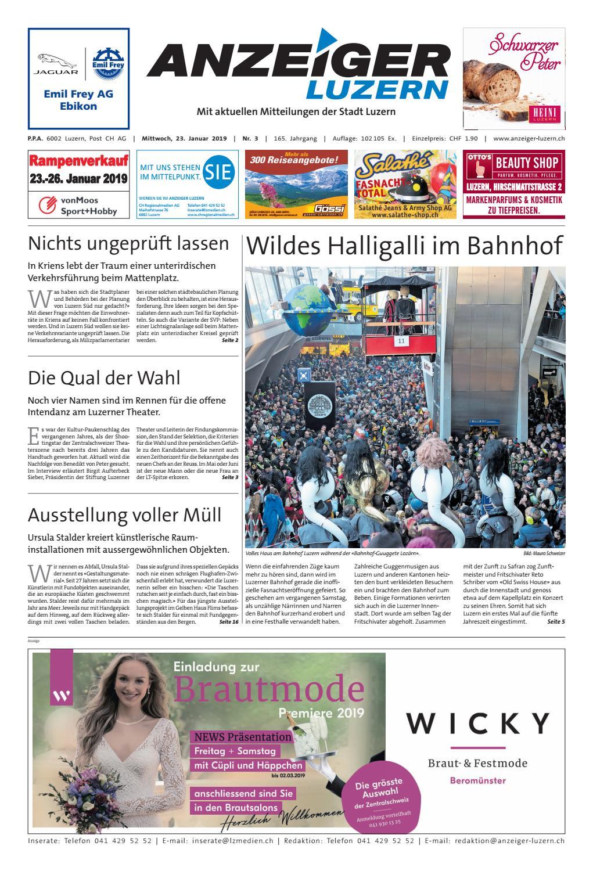 Anzeiger Luzern 03 23 01 2019 By Anzeiger Luzern Issuu