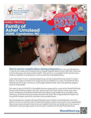 Camden County, MO - Family of Asher Umstead by RMHC of the