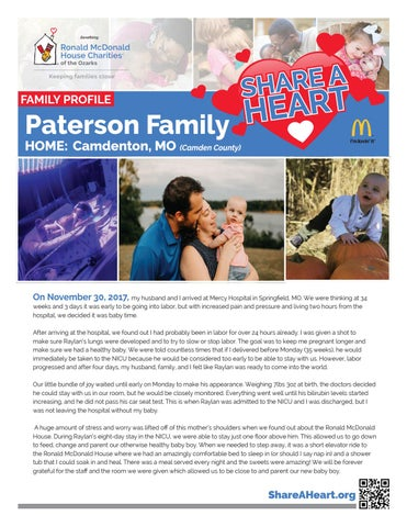 Camden County, MO - Paterson Family by RMHC of the Ozarks