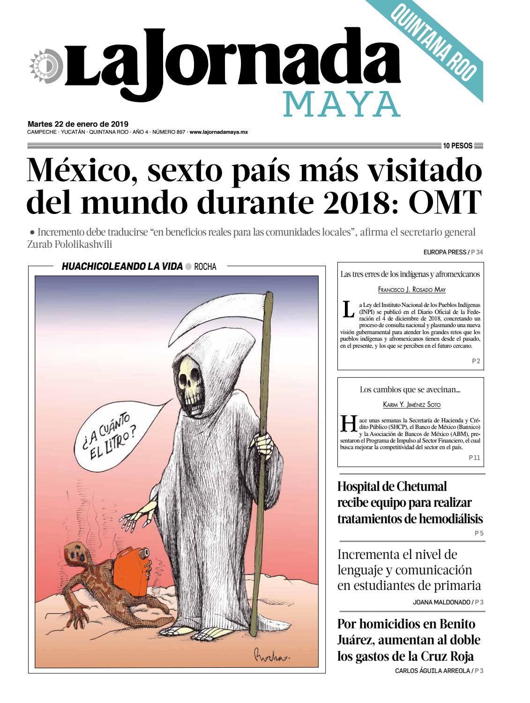 179c8141 La Jornada Maya · martes 22 de enero de 2019 by La Jornada Maya - issuu