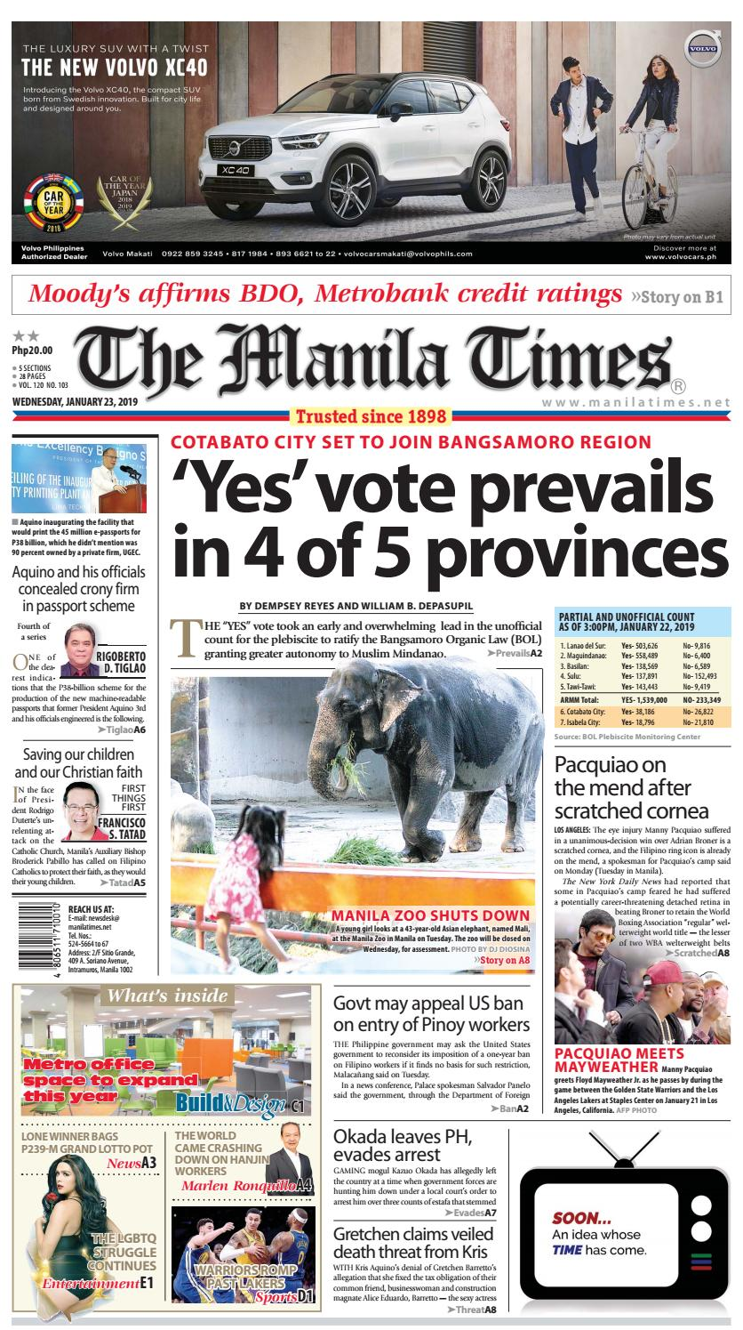THE MANILA TIMES | JANUARY 23, 2019 by The Manila Times - issuu