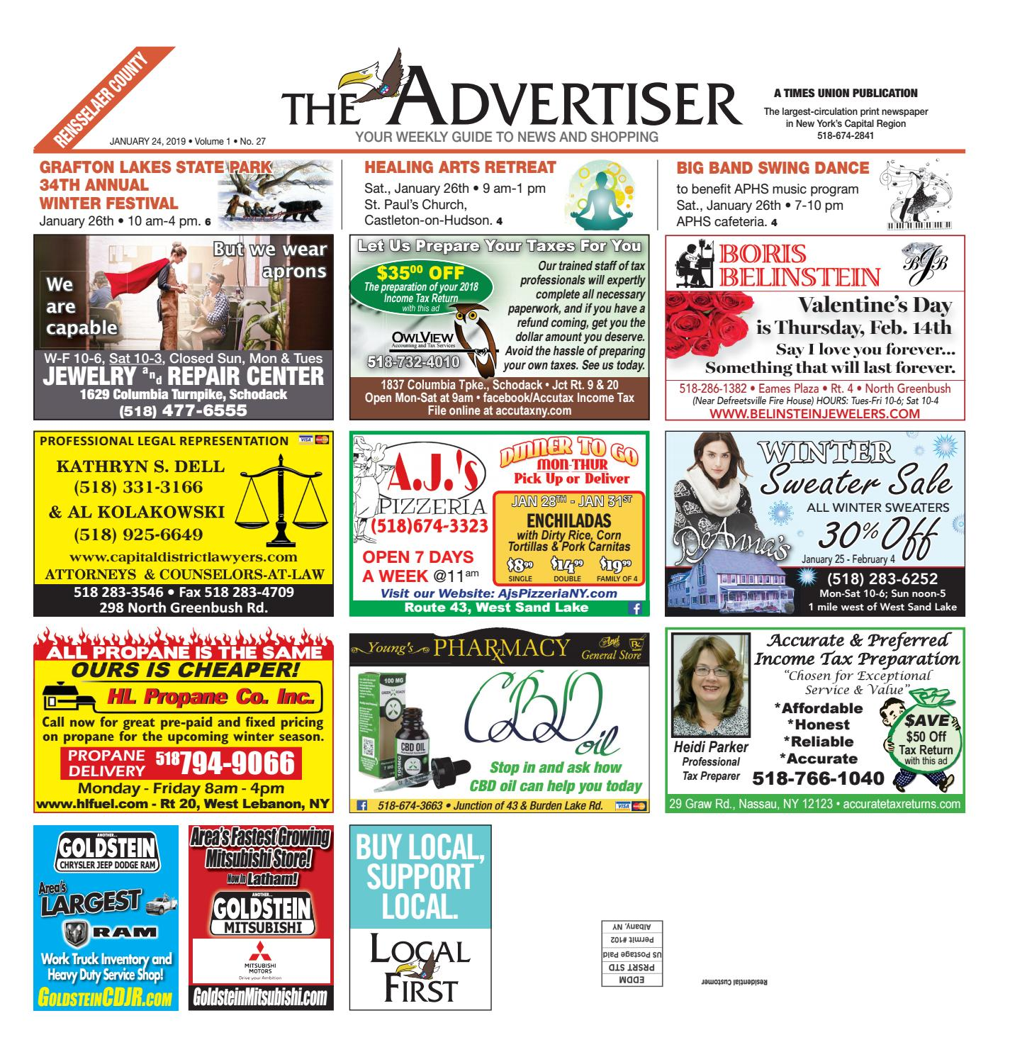 Local First The Advertiser 012419 by Capital Region Weekly Newspapers -  issuu