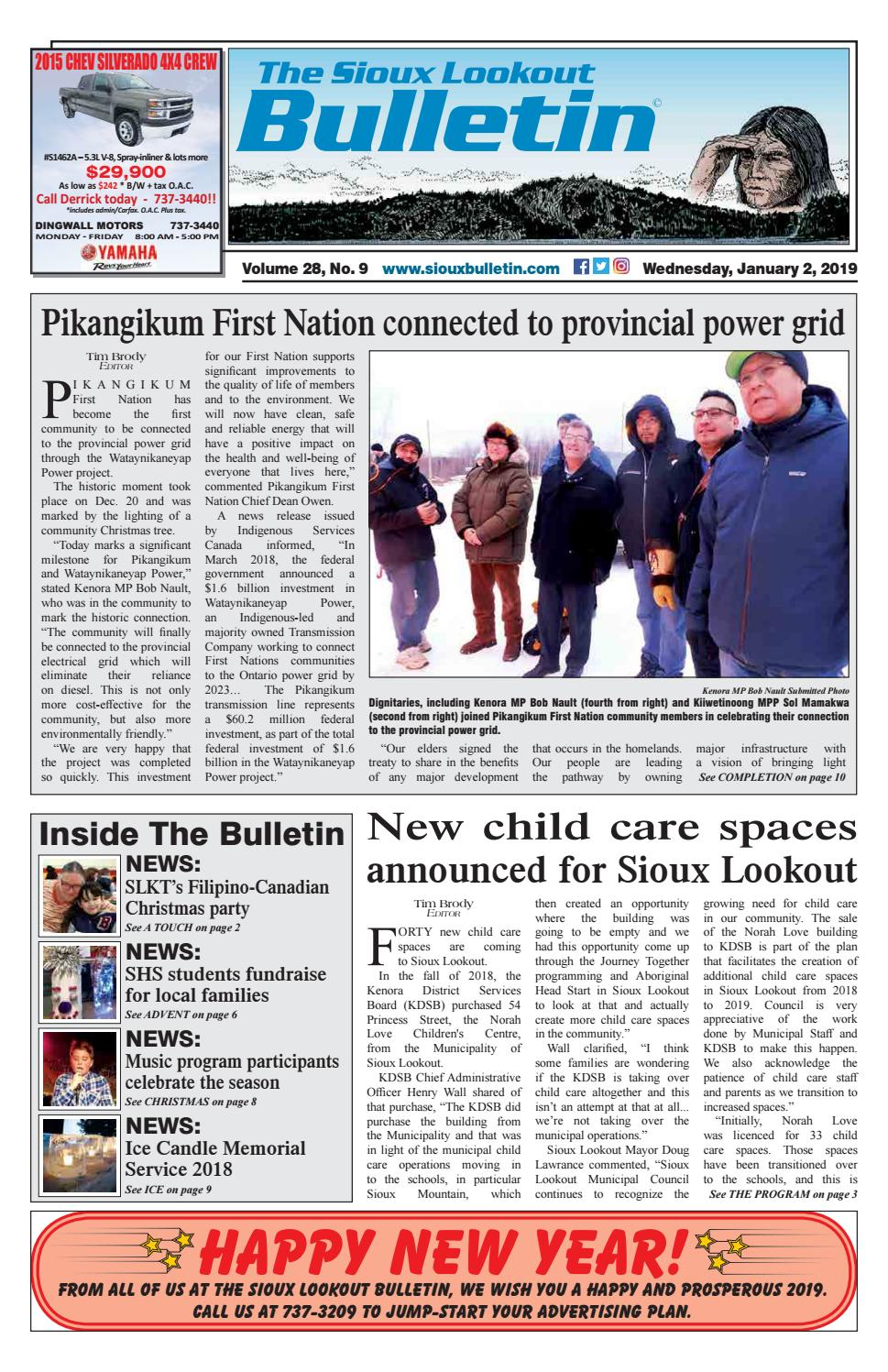 The Sioux Lookout Bulletin - Volume 28 - No  9, January 2