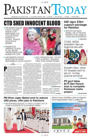 E-Paper PDF 23th January 2019 (LHR) by Pakistan Today - issuu