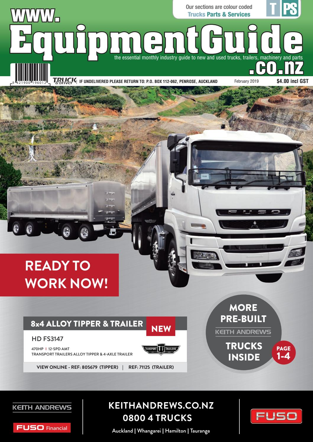Equipment Guide February 2019 by NZ Truck & Driver - issuu