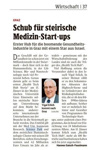 Schub Für Steirische Medizin Start Ups By Science Park Graz Issuu