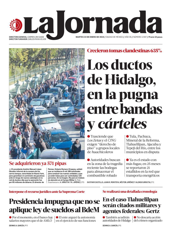La Jornada 01 22 2019 By La Jornada Demos Desarrollo De Medios Sa