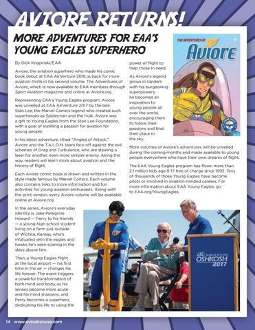 Page 14 of Aviore Returns! More Adventures for EAA's Young Eagles Superhero