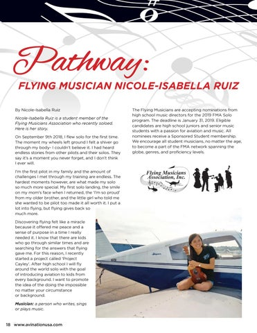 Page 18 of Pathway: Flying Musician Nicole-Isabella Ruiz