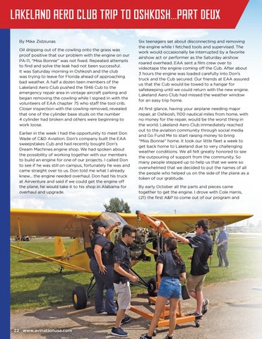Page 22 of Lakeland Aero Club Trip to Oshkosh…Part Deux