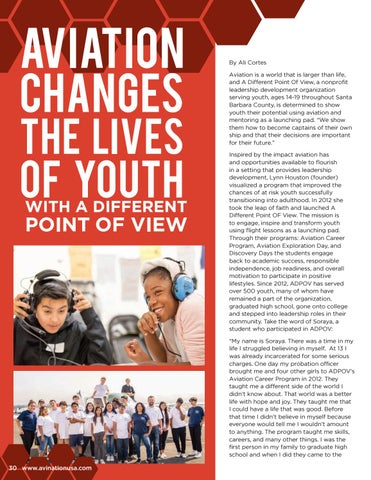 Page 30 of Aviation Changes the Lives of Youth with A Different Point Of View