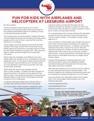 Page 47 of Fun for Kids with Airplanes and Helicopters at Leesburg Airport