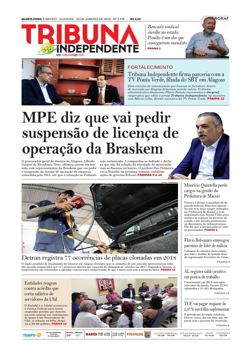 8519c603a21 Edição número 3316 - 23 de janeiro de 2019 by Tribuna Hoje - issuu