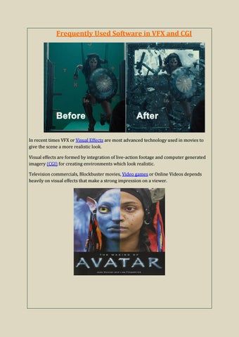 Frequently Used Software In VFX & CGI by MAAC Animation