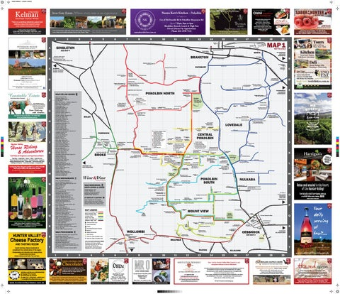 THE MAP - Hunter Valley Wine Country & Surrounds by WCP ... Map Hunter on map dallas, map wings, map navy,