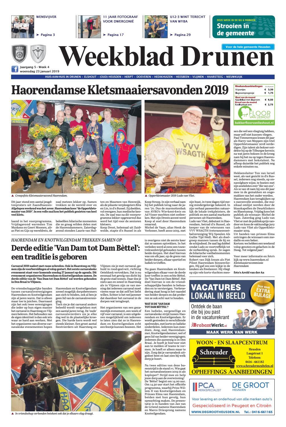 4c65f5bdaf5 Weekblad Drunen 23-01-2019 by Uitgeverij Em de Jong - issuu