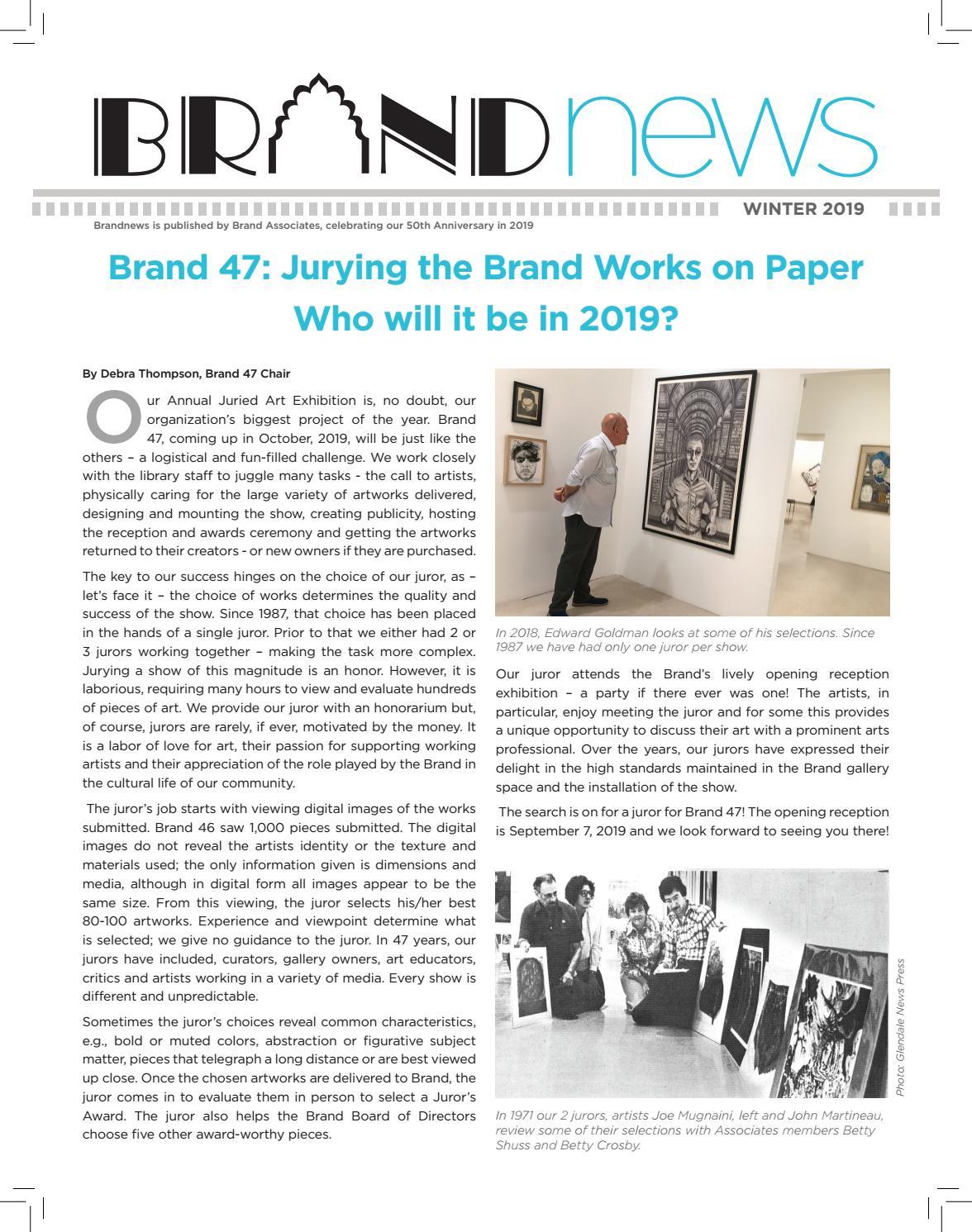 Brand Associates Newsletter Winter 2019 by Brand Associates