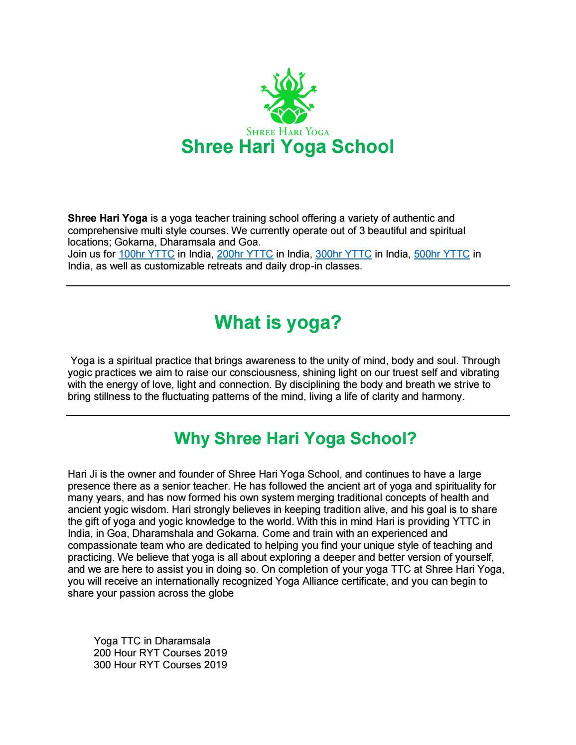 Multistyle Yoga School by haristyleyoga - issuu