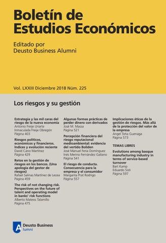 a624d01ad Boletín de Estudios Económicos. Diciembre 2018. Num. 225 by Deusto ...