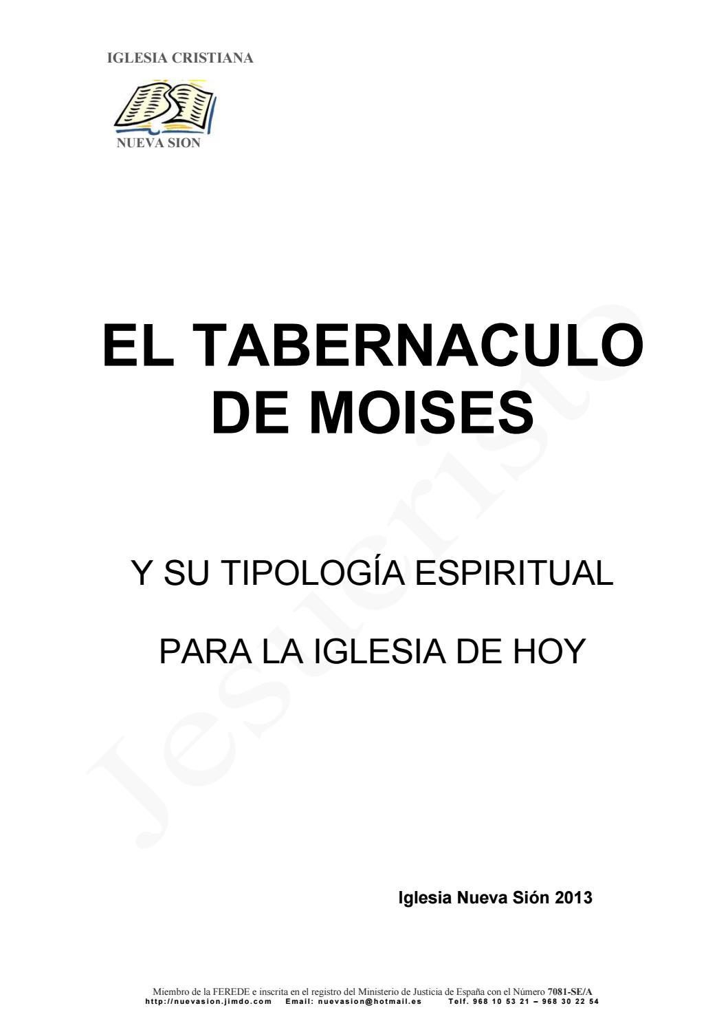 El Tabernaculo De Moises Y Sus Tipologia By Castillo Montaño Sami