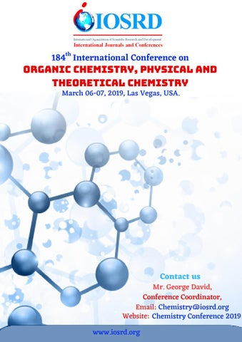 Chemistry Conference 2019 by IOSRD Journals and Conferences - issuu