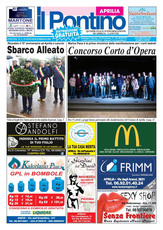 IL PONTINO APRILIA - Anno XXX - N. 2 - 23 gennaio 8 Febbraio 2019 by Il  Pontino Il Litorale - issuu c53f4fa6bc0