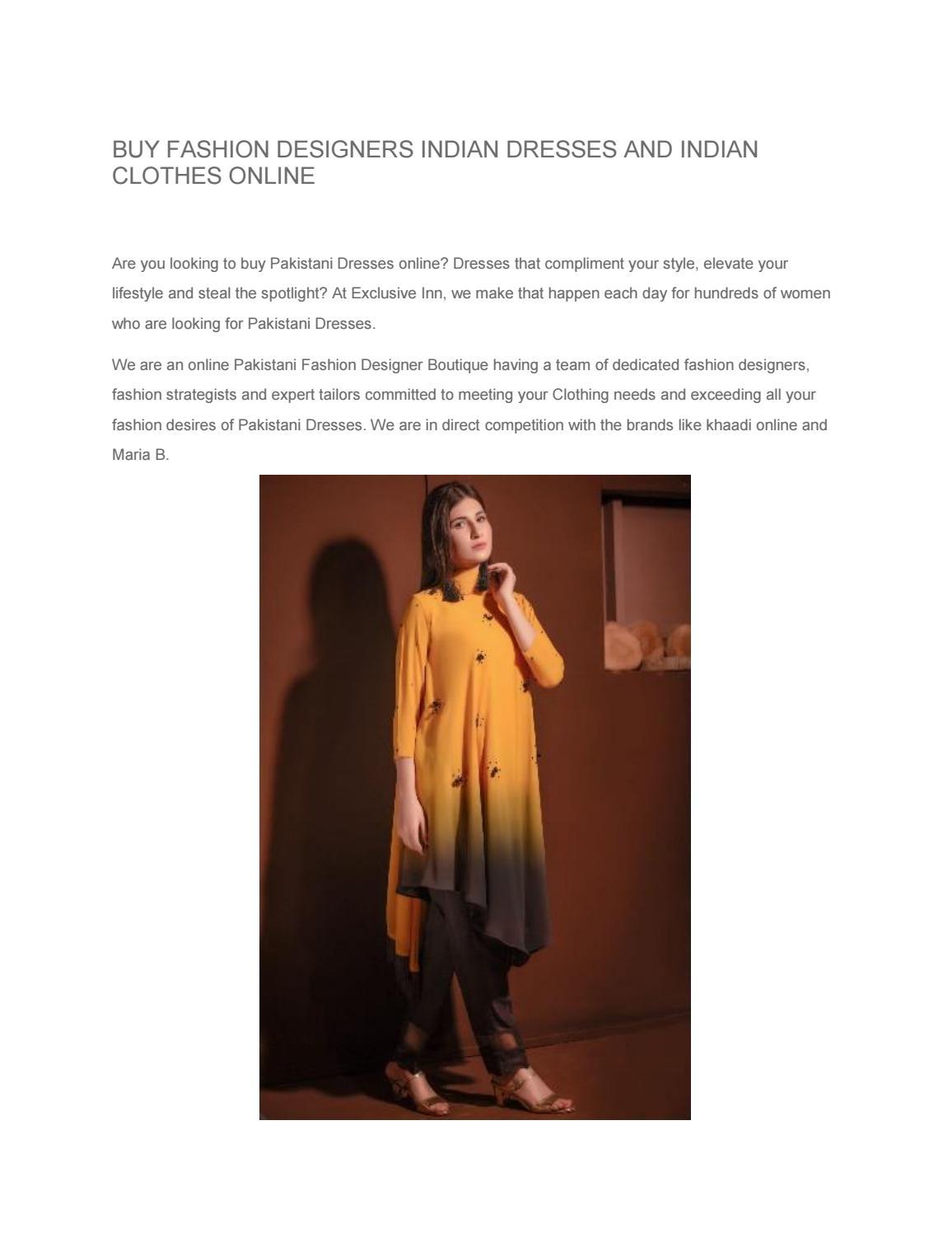 Buy Designer Indian Dresses Indian Clothes Online Exclusiveinn By Exclusiveinnfashion Issuu