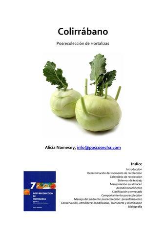 Colirrabano Posrecoleccion De Hortalizas By Horticultura
