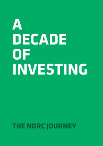 A Decade of Investing by NDRC - issuu