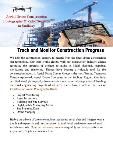 Aerial Drone Construction Photography & Video Services in