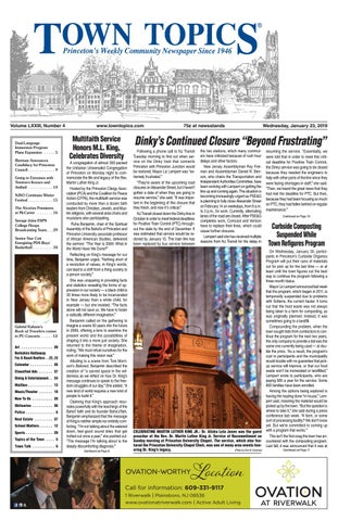 Town Topics Newspaper, January 23 by Witherspoon Media Group