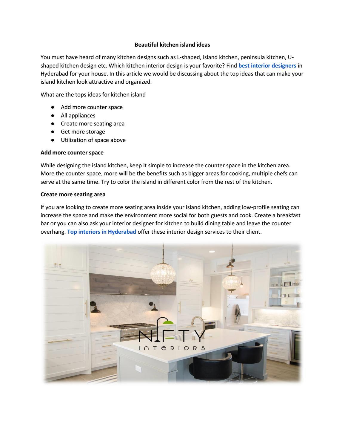 Beautiful kitchen island ideas by niftyinterio   issuu