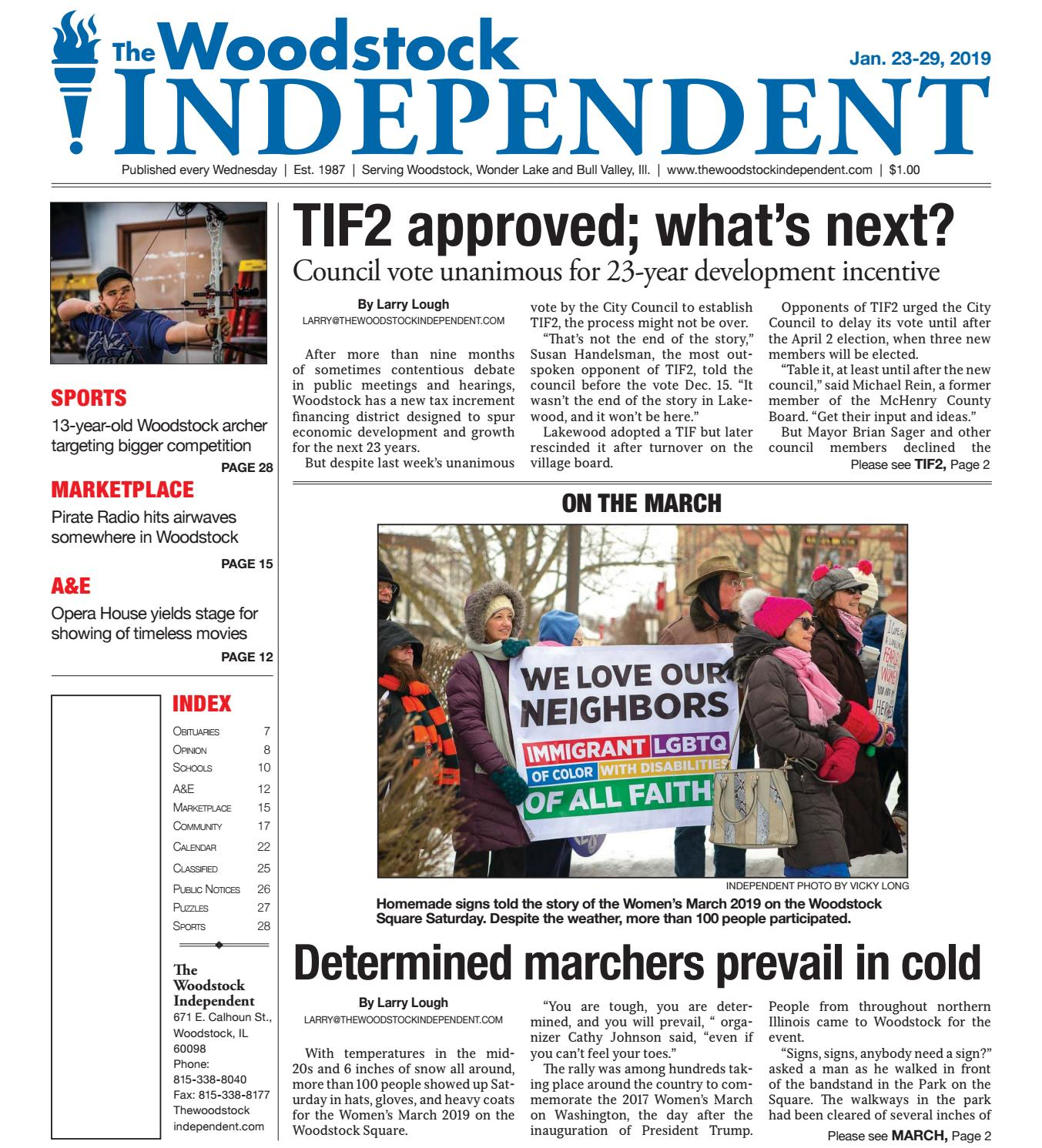 Woodstock Independent 1/23/19 by Woodstock Independent - issuu