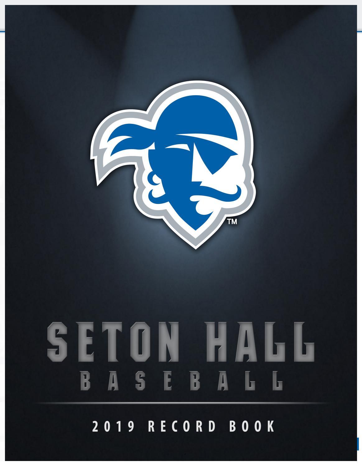 2019 Seton Hall Baseball Record Book by Seton Hall Pirates - issuu