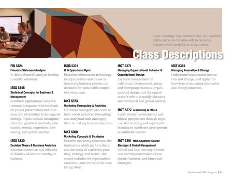 Page 3 of TTU Rawls Professional MBA