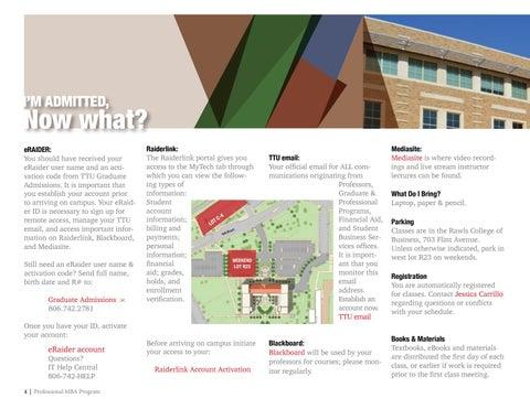 Page 4 of TTU Rawls Professional MBA