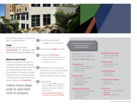 Page 5 of TTU Rawls Professional MBA