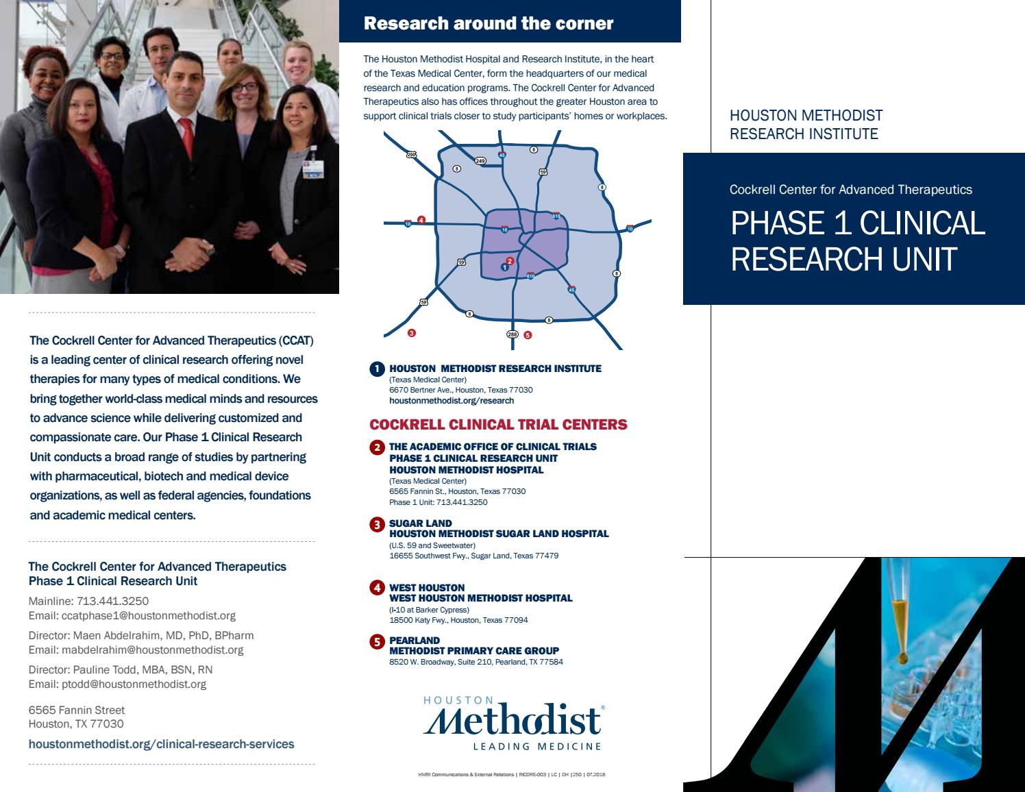 Phase I Clinical Research Unit by Houston Methodist