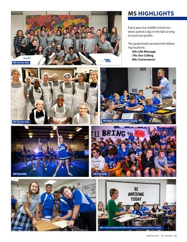 Page 15 of Dallas Christian School Middle School