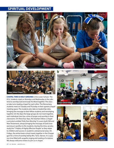 Page 18 of Dallas Christian School - service and spiritual life