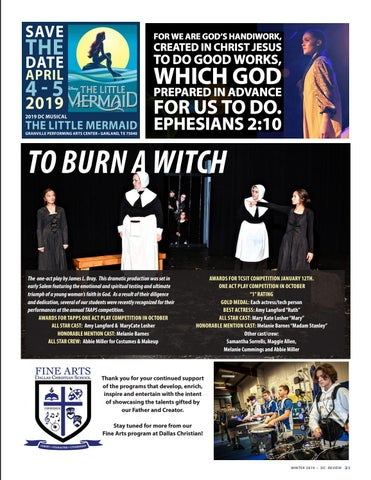 Page 21 of Dallas Christian School - Fine Arts