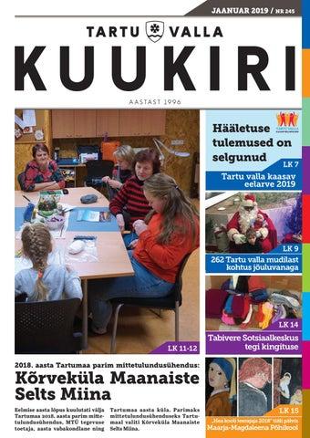 7d2d8e7d7d4 Tartu Valla Kuukiri (245) Jaanuar 2019 by Tartu Valla Kuukiri - issuu