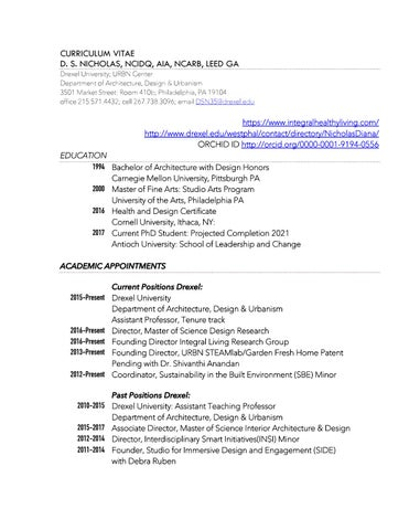 Diana Nicholas Curriculum Vitae by mouthoflowers - issuu