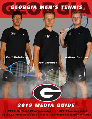 2018-19 Georgia Men's Tennis Media Guide by Georgia Bulldogs
