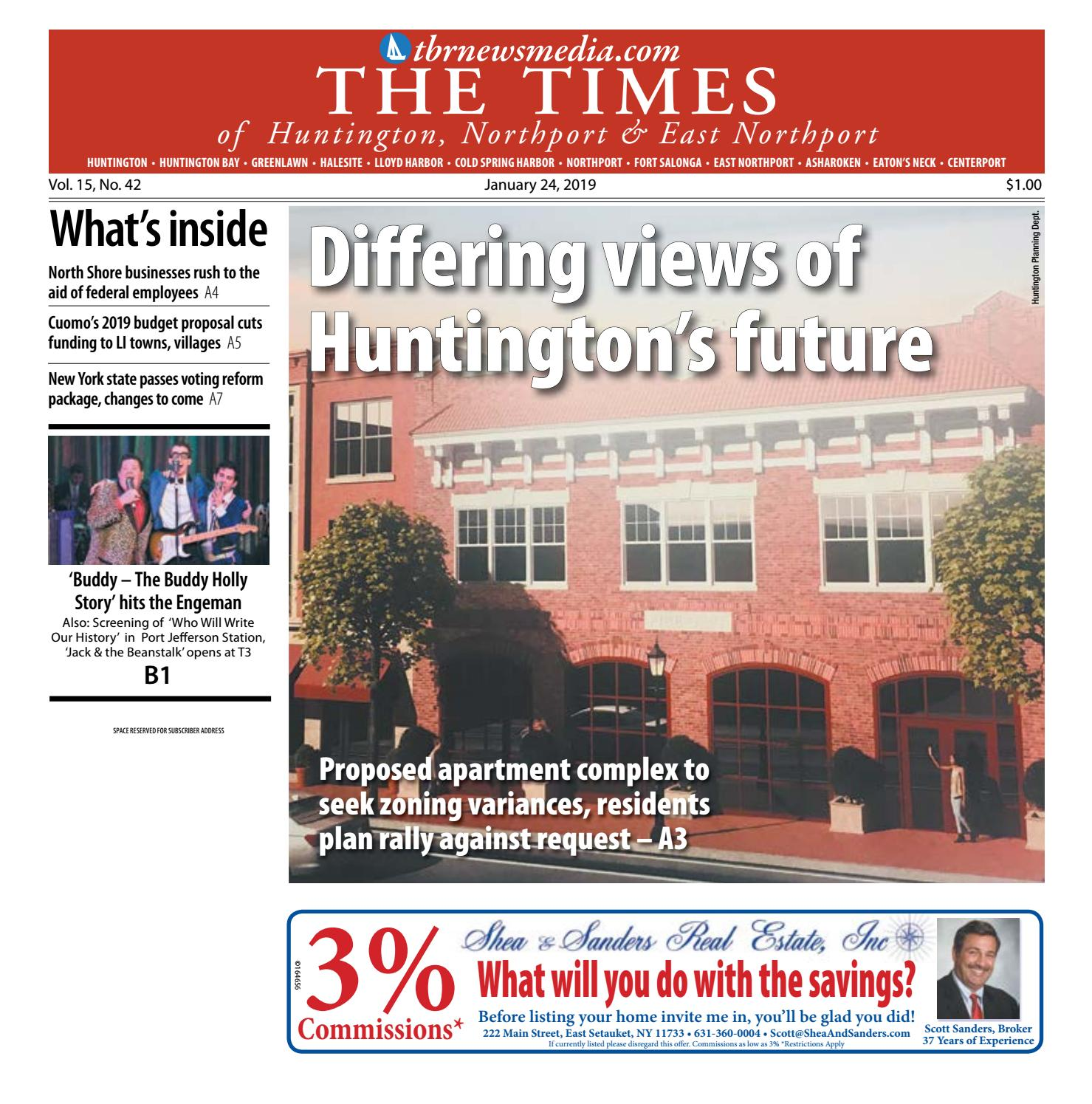 The Times of Huntington-Northport - January 24, 2019 by TBR
