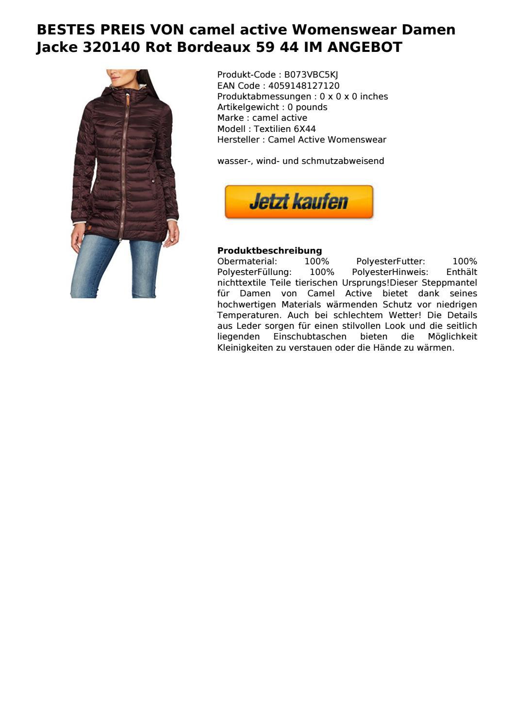 bestes preis von camel active womenswear damen jacke 320140